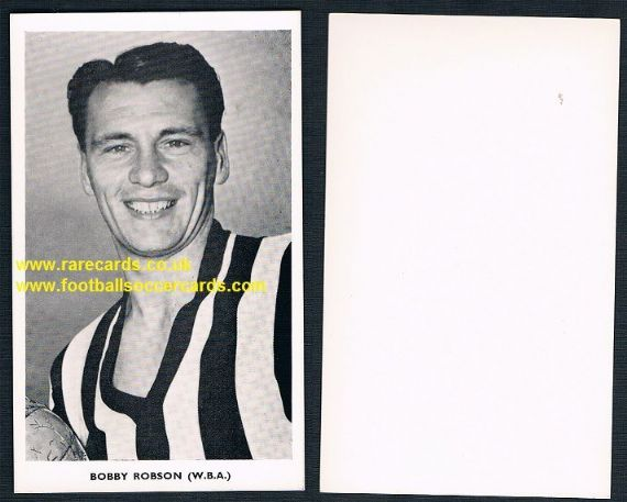 1962 Bobby Robson WBA West Brom WC62 Quaker redemption card